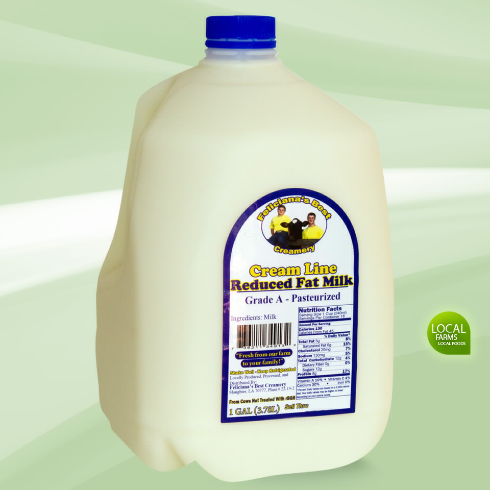 Creamy Rich and Smooth - Non-homozonized Reduced Fat Milk