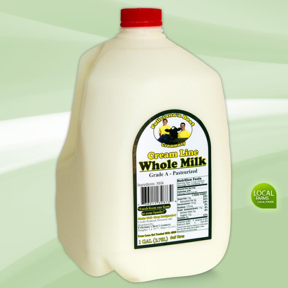 One Gallon Of Whole Milk